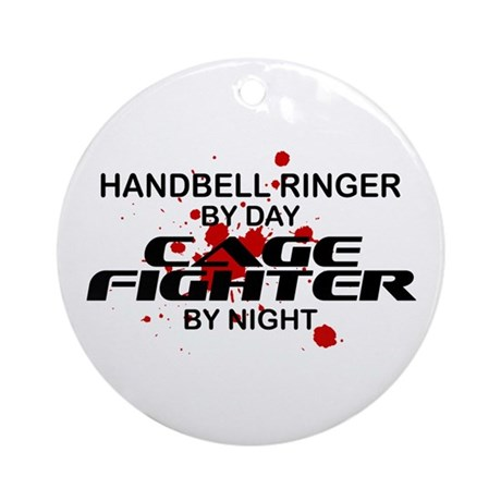 Handbell Ringer Cage Fighter by Night Ornament (Ro