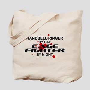 Handbell Ringer Cage Fighter by Night Tote Bag