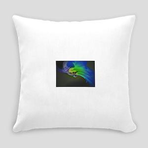 Black-Light Neon Daisy Everyday Pillow