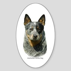 Australian Cattle Dog 9F061D-04 Sticker (Oval)