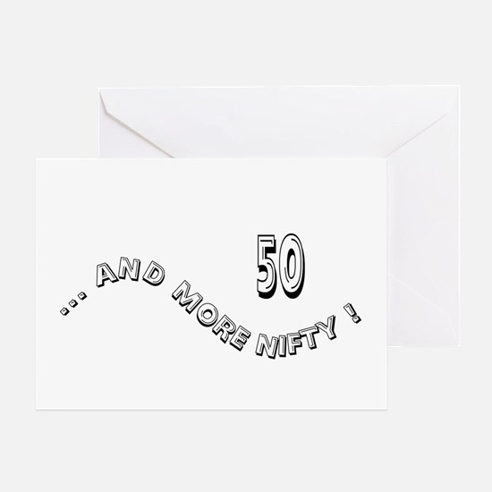 50 and More Greeting Card