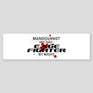 Mandolinist Cage Fighter by Night Bumper Sticker