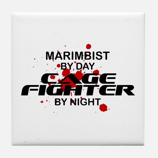 Marimbist Cage Fighter by Night Tile Coaster