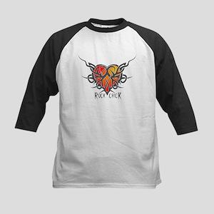 ROCK CHICK: Heart of Thorns Kids Baseball Jersey