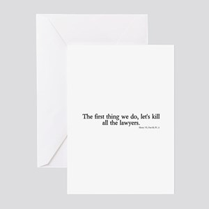 kill all lawyers Greeting Cards (Pk of 10)
