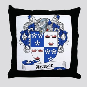 Fraser Family Crest Throw Pillow