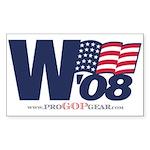 """W '08"" Rectangle Sticker"