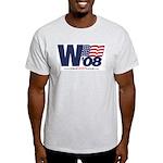 """W '08"" Ash Grey T-Shirt"