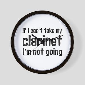 Take My Clarinet Wall Clock
