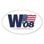 """""""W '08"""" Oval Sticker"""