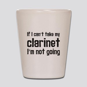 Take My Clarinet Shot Glass