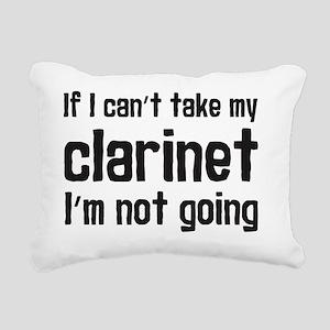 Take My Clarinet Rectangular Canvas Pillow