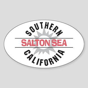 Salton Sea CA Oval Sticker