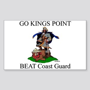 BEAT COAST GUARD Rectangle Sticker