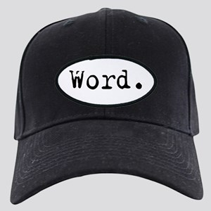 Word. Black Cap