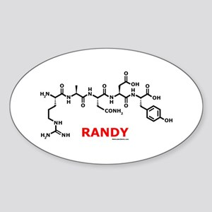 RANDY Oval Sticker