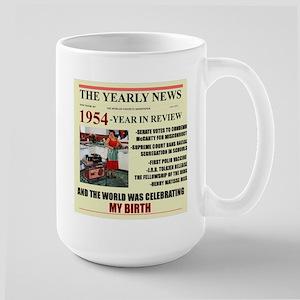 born in 1954 birthday gift Large Mug