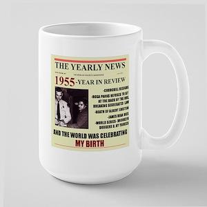 born in 1955birthday gift Large Mug