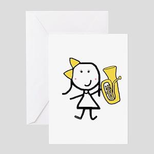 Girl & Baritone Greeting Card