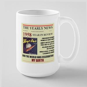 born in 1958 birthday gift Large Mug