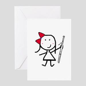 Girl & Bassoon Greeting Card