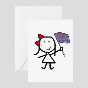 Girl & Color Guard Greeting Card