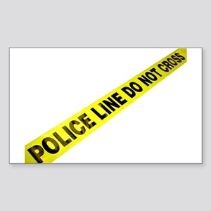 Police Line Rectangle Sticker