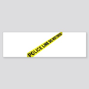 Police Line Bumper Sticker
