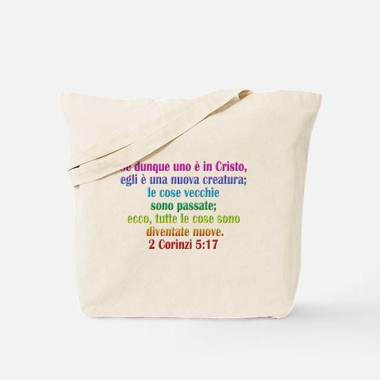 2 Corinthians 5:17 Italian Tote Bag