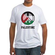 Peace In Palestine Fitted T-Shirt