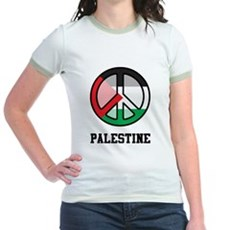 Peace In Palestine Jr. Ringer T-Shirt