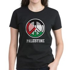 Peace In Palestine Women's Dark T-Shirt