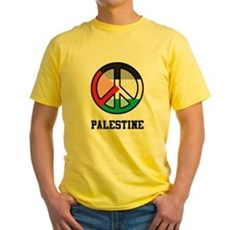 Peace In Palestine Yellow T-Shirt