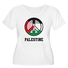 Peace In Palestine Women's Plus Size Scoop Neck T-
