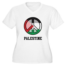 Peace In Palestine Women's Plus Size V-Neck T-Shir