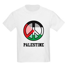Peace In Palestine Kids Light T-Shirt