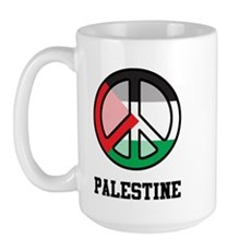 Peace In Palestine Large Mug