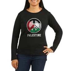 Peace In Palestine Women's Long Sleeve Dark T-Shir