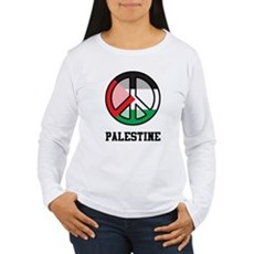 Peace In Palestine Women's Long Sleeve T-Shirt
