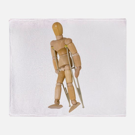 UsingCrutches013110.png Throw Blanket