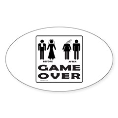 GAME OVER Oval Decal
