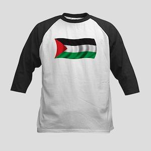 Wavy Palestine Flag Kids Baseball Jersey