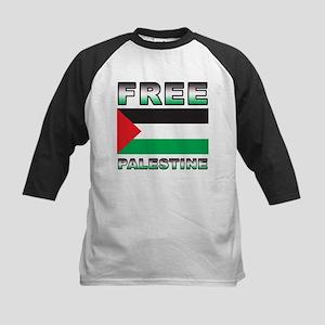Free Palestine Kids Baseball Jersey