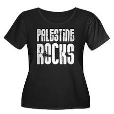 Palestine Rocks Women's Plus Size Scoop Neck Dark