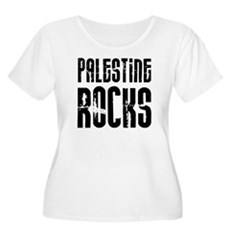 Palestine Rocks Women's Plus Size Scoop Neck T-Shi
