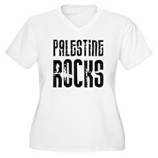 Palestine Rocks Women's Plus Size V-Neck T-Shirt