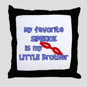 Little Brother Sidekick Throw Pillow