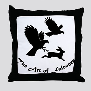 Art of Falconry-HH Throw Pillow