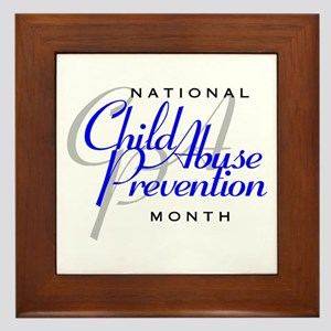 Child Abuse Prevention Framed Tile