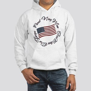 God Bless Our Troops, Proud Navy Mom Hooded Sweats